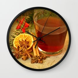 Winter Tea Wall Clock