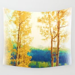 Faded Aspens Wall Tapestry