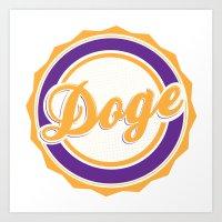 doge Art Prints featuring Doge by Tasha-Nova
