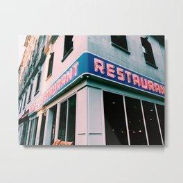 The Seinfeld Restaurant  Metal Print