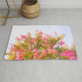 Pink Crepe Myrtle Flowers Rug