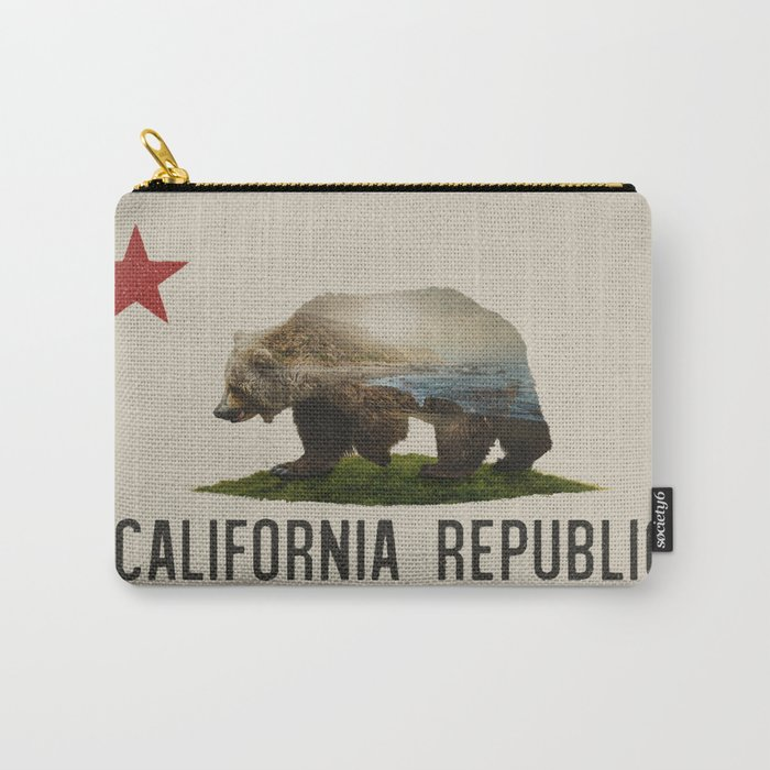 California Grizzly Bear Flag Carry All Pouch