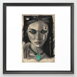 Icy blues Framed Art Print