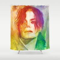 michael scott Shower Curtains featuring Michael by Aurora Wienhold
