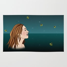 Swimming With Fireflies Rug
