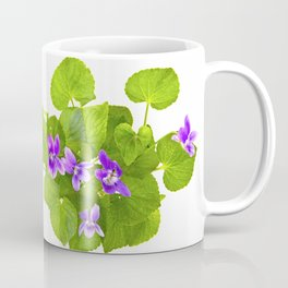 Bunch of Wild Violets Isolated on White Coffee Mug