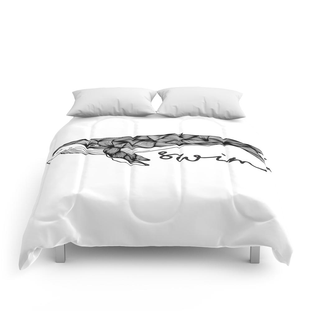 Humpback_Whale_Swim_Swim_Swim_Comforter_by_mariantoniapd