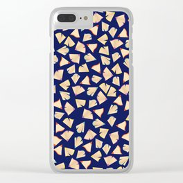 Color Pencil Shavings Pattern Clear iPhone Case