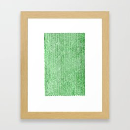Stockinette Green Framed Art Print
