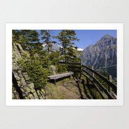 Aellfluh Grindelwald Switzerland Art Print
