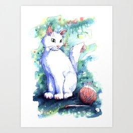 Playing Kitty Art Print