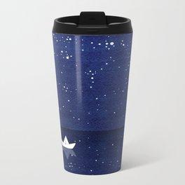 Zen sailing, ocean, stars Metal Travel Mug