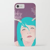 antlers iPhone & iPod Cases featuring Antlers by karolindie