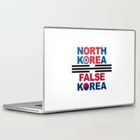 korea Laptop & iPad Skins featuring North Korea by pollylitical
