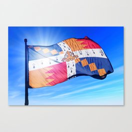 Birmingham, England, flag waving on the wind Canvas Print