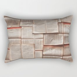Open Books Library Bookworm Reading Rectangular Pillow