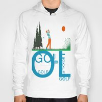 golf Hoodies featuring Golf, golf, golf! by South43