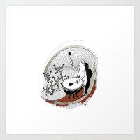 drum Art Prints featuring Drum dancers by Vilnis Klints