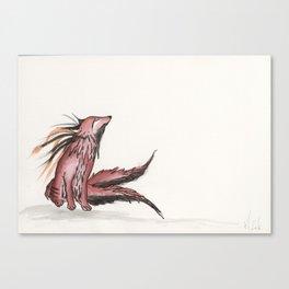 Tetrad the blood moon fox. Canvas Print