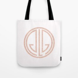 great Gatsby white rose gold Tote Bag