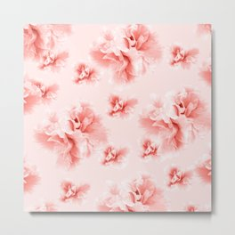 Living Coral Azalea Flower Dream #1 #floral #pattern #decor #art #society6 Metal Print