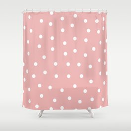 Pink Dots Style Shower Curtain