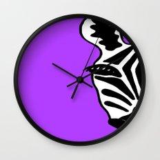 Zebra Purple Wall Clock