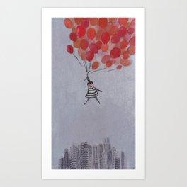 The Balloon Girl Art Print