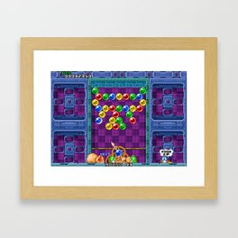 Puzzle Bobble Framed Art Print