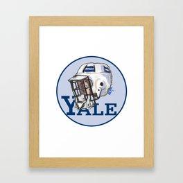 Yale Bulldogs Bucket Helmet Framed Art Print