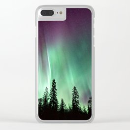 Colorful Northern Lights, Aurora Borealis Clear iPhone Case