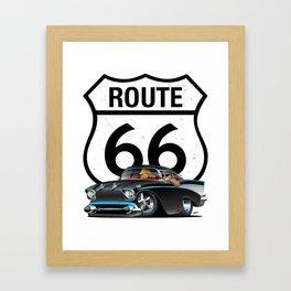 Route 66 Classic Car Nostalgia Framed Art Print