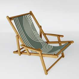 Minimalist Lines in Forest Green Sling Chair