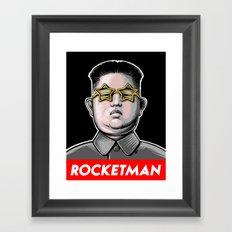 Rocket Man Kim Jong Un Framed Art Print