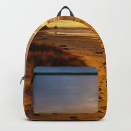 Cannon Beach Oregon at Sunset Haystack Rock Backpack