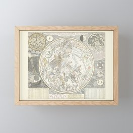 Star map of the Southern Starry Sky Framed Mini Art Print