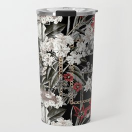 Artistic Vintage Mix Flowers With Chains Travel Mug
