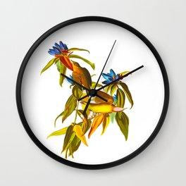 Connecticut warbler John James Audubon Vintage Scientific Bird Illustration Wall Clock