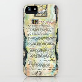"""Calligraphy of the poem """"IF"""" by Rudyard Kipling iPhone Case"""