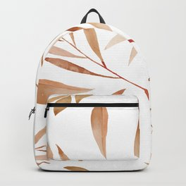 Watercolor Brown Branches Seamless Pattern Backpack