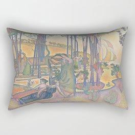 Henri-Edmond Cross The Evening Air Rectangular Pillow