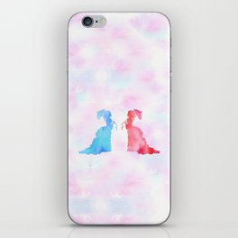 Mirorring Watercolor Victorian Woman style iPhone Skin