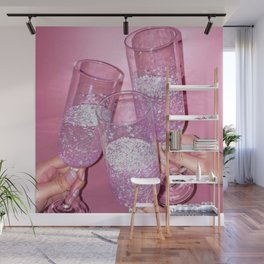 Sparkly Champagne Wall Mural