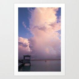 Beautiful clouds. Isla Mujeres. Mexico Art Print