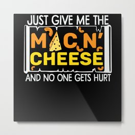 Macaroni with cheese and pizza gift Metal Print