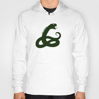 slytherin Hoodies featuring Slytherin by Caleb Cowan