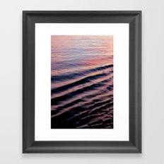 PINK RIPPLES Framed Art Print