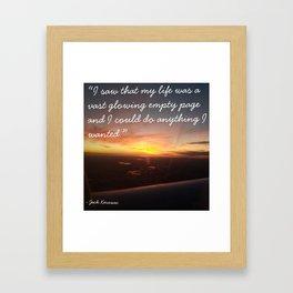 Kerouac Sunset Framed Art Print