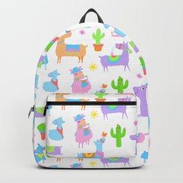 Summer Llamas Pattern Backpack