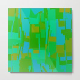 Abstract Cityscape Green  Metal Print